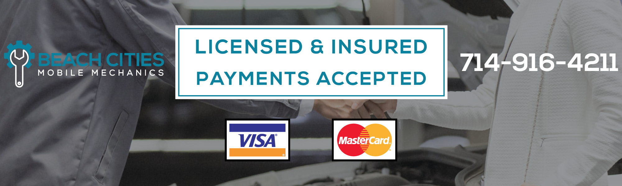 licensed and insured payment